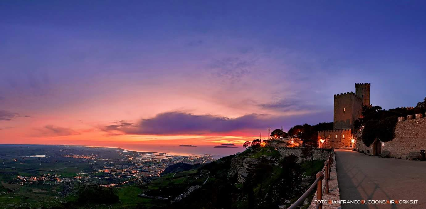 A sunset in Erice