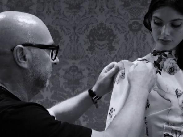 Devotion the film of Dolce and Gabbana . Domenico Dolce at work