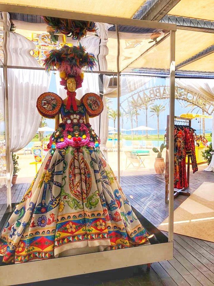 Dolce & Gabbana high fashion dress at Verdura resort. Devotion the film by Dolce and Gabbana